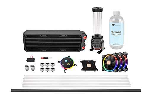 Thermaltake Pacific M360 D5 Hard Tube Water Cooling Kit/Ventole e Sistemi di Raffreddamento Sistemi di Raffreddamento ad Acqua, Multicolore