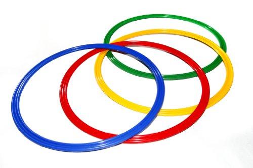 Set di 4 cerchi a sezione piatta, Ø ca. 40 cm, 4 colori