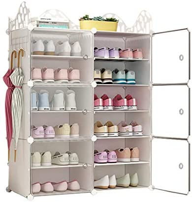 C G Life 6 Tiers Stackable 24 30 pairs Freestanding Shoe Storage Cabinets with Adjustable Shelving product image