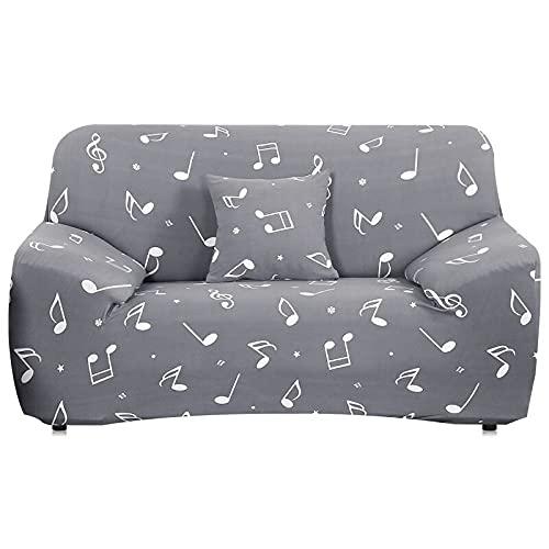 WXQY Funda de sofá elástica con Estampado Floral, Funda de sofá de Sala de Estar Antideslizante Totalmente Envuelta, Funda de protección de Muebles A24 de 2 plazas