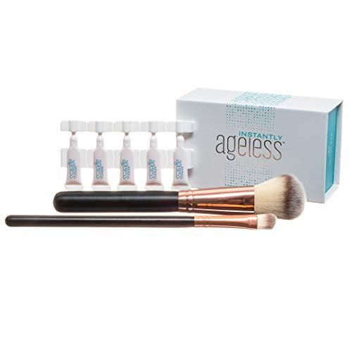 Instantly Ageless Jeunesse 25 Viales W / 2 Pinceles de Maquillaje Profesional Libre   25 Vial Box Set con 2 Completo Gratis Tamaño de Cepillo Profesional