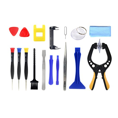 NO BRAND CHGXE Kit Herramientas de reparación electrónica, Herramienta de reparación JF-8143 Metal + plástico 17 en 1 Multi función-Reparación Kit desmonta la Herramienta