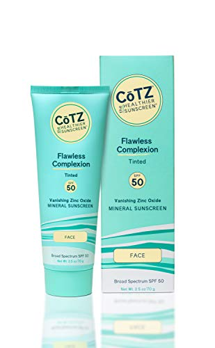 CoTZ Flawless Complexion Tinted Facial Mineral Sunscreen Broad Spectrum SPF 50; 2.5 oz / 70 g
