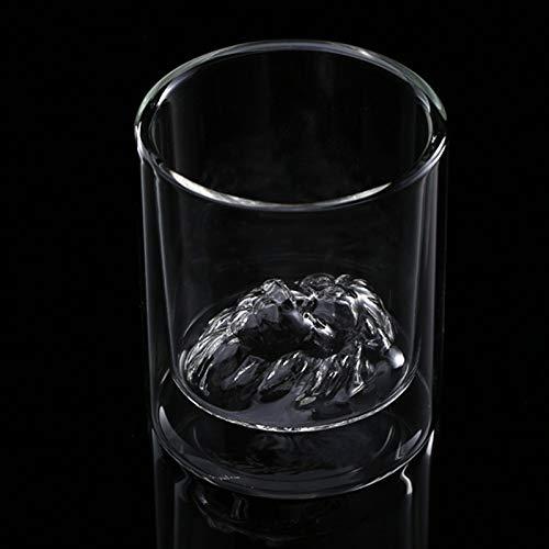 FHC Taza Doble Aislamiento pezón de Vidrio Grueso albóndiga cóctel de café,201-300ml