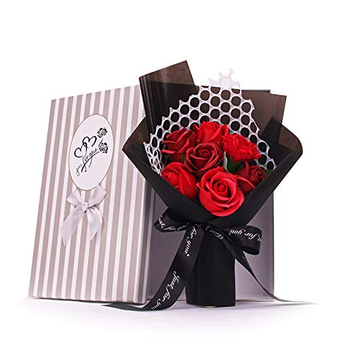 NCONCO 7 Roses Artificial Flower Bouquet Gift for Birthdays Valentines Day Mothers Day