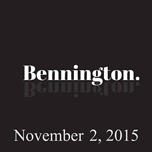 Bennington, November 2, 2015 audiobook cover art