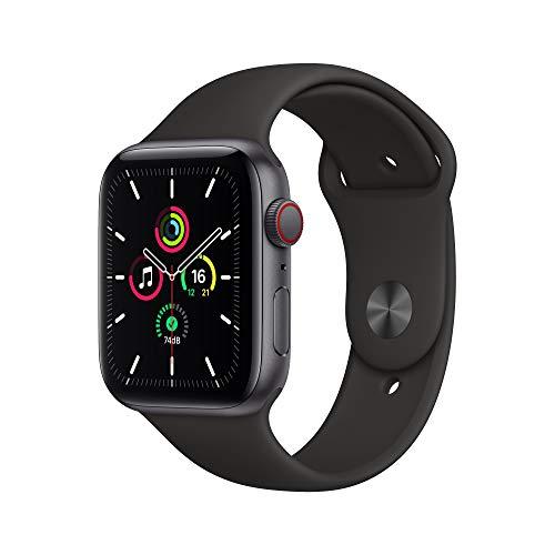 Nuevo AppleWatch SE (GPS+Cellular, 44 mm) Caja de Aluminio en Gris Espacial - Correa Deportiva Negra