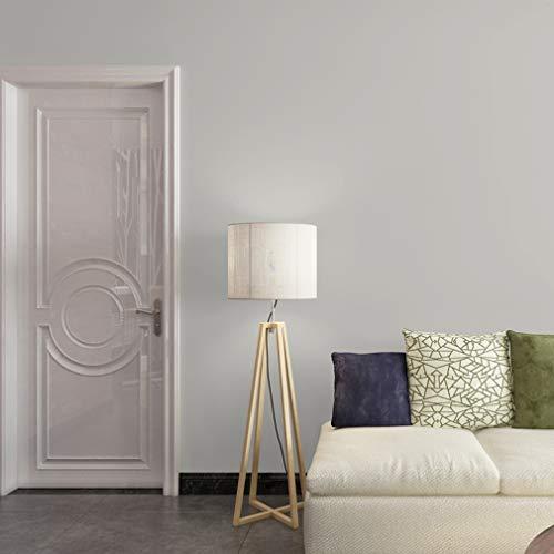 Hintergrundbild TONGTONG SHOP Tapete, Wohnzimmer Master Schlafzimmer Moderne Einfache Einfarbig Hellgrau Wall Paper Solid Color Verdicken Vlies Wallcoverings