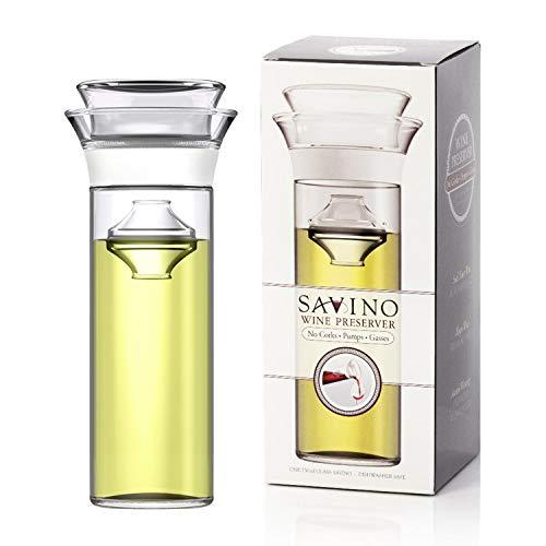 Savino Wine Preserver, Keeps Red and White Wine Fresh Up to 7 Days,...