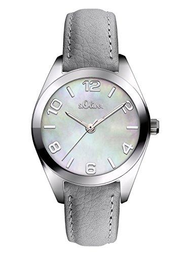 s.Oliver Time Damen-Armbanduhr - SO-3269-LQ, grau