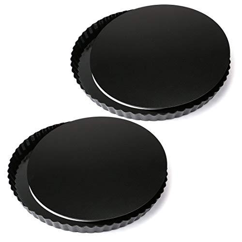 Tosnail antiadhésif 27,9 cm quiche Pan Moule à Tarte, Assiette à tarte avec amovible Fond Amovible