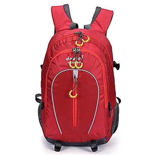 BTTNW Zaino da Trekking Zaino da Esterno Sportivo, Zaino da Uomo Multifunzionale e da Donna, Grande capacità di Alpinismo Adatto per Il Campeggio E L'escursionismo (Colore : Red, Size : 40L)