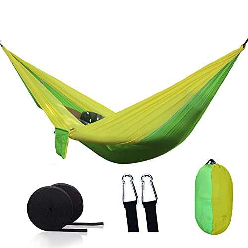 FDSJKD Tragbarer Camping Parachute Hängematte Survival Garten Garten Gartenmöbel Freizeit Schlafende Reise Doppelhängendes Bett (Color : 1)