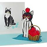 Tarjeta pop up 'Gato - Tuxedo Cat' divertida tarjeta de cumpleaños y tarjeta de invitación con sobre como cupón, idea de regalo y decoración de gatos
