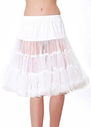 Krüger Dirndl Trachten Petticoat 60cm 460 Weiss