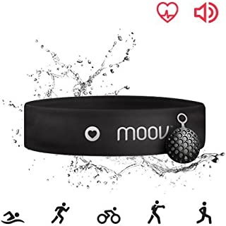 Moov HR Sweat, Swim Tracker Heart Rate Monitor& Audio Coach, Bluetooth Headband, Running HIIT Cycling For Android and iOS