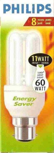 11 W (équivalent 60 W) Philips Genie Ampoule à économie d'énergie à baïonnette