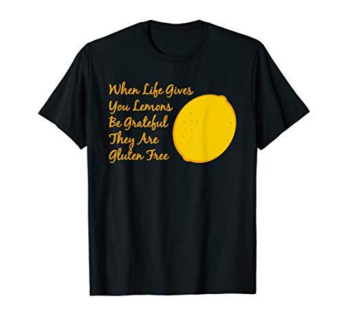 Funny Gluten Free Tshirt For Vegans - Life Gives You Lemons