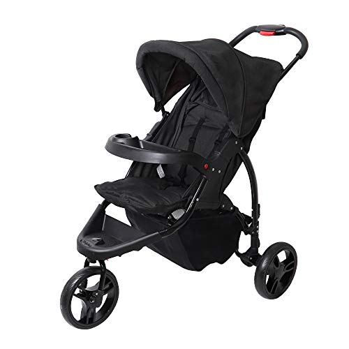 Maydolly Baby Pushchair Jogger Style Pram 3-Wheel Stroller Foldable Buggy for Infant to Toddler...