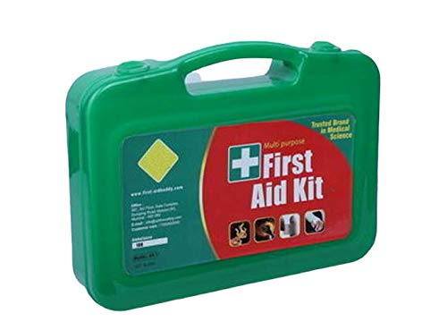 Add-On Safety Tool Zone Plastic First Aid Kit Storage Box-AK2-1 Set with Medicine (Green Case)