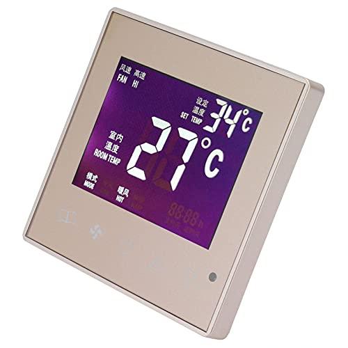 Surebuy Termostato Inteligente LCD, AC220V Termostato De Aire Acondicionado Central Práctico Alta Confiabilidad Alta Precisión para Sala De Estar Dormitorio, Comedor, Pasillo