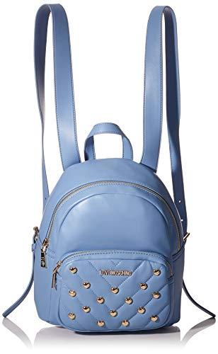 Love Moschino Damen Jc4235pp0a Rucksack, Blau (Light Blue Matt), 12x26x22 Centimeters