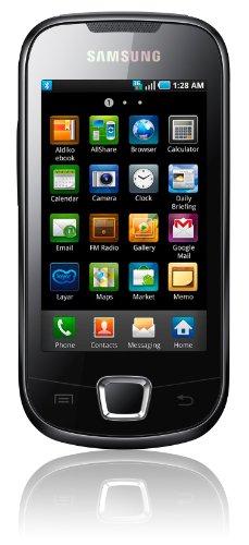 Samsung Galaxy 3 i5800 Smartphone (Touchscreen, 3 Megapixel Kamera, Android 2.1) deep-black