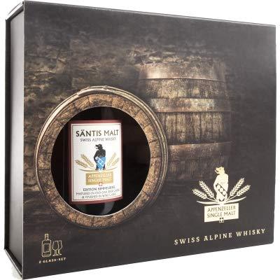 Appenzeller Säntis Malt Edition Himmelberg Geschenkbox mit 2 Whisky-Gläser