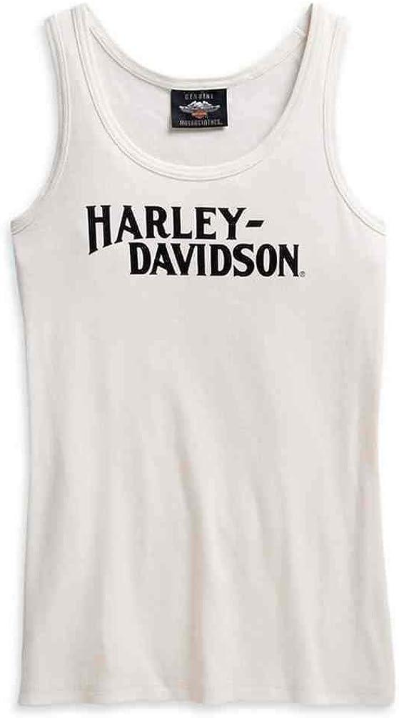 Harley-Davidson Women's Printed Graphic Sleeveless Tank Top - White 96149-21VW