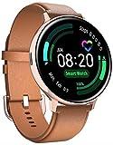 PKLG Smart Watch - Orologio intelligente con schermo a cerchio completo, Bluetooth, per chiamate, monitoraggio della frequenza cardiaca, orologio sportivo
