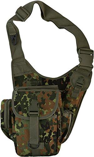 normani Schultertasche, Multifunktions Umhängetasche für Damen und Herren Military Tactical Rucksack Brusttasche Sling Bag für Radfahren Wandern Camping Freizeit Uni Schule Farbe Flecktarn