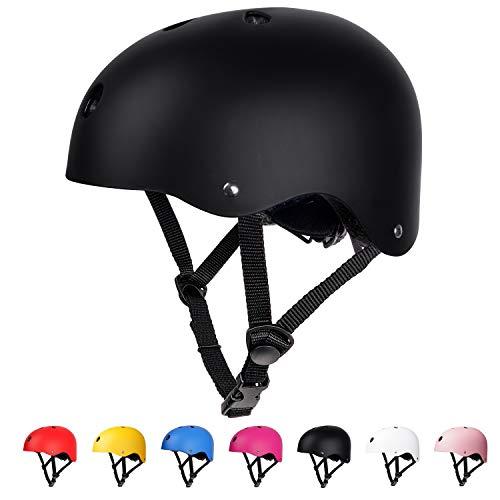arteesol Kinderhelm Fahrradhelm, Unisex BMX Helm Set Skaterhelm 3-13 Jahre Alt Mädchen Junge, für Fahrrad Sport Skateboard Scooter - pink/red