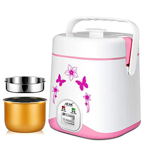JINSE 1.2l Mini elektrische rijstkoker, kleine kookmachine eieren levensmiddelen Vaporizer 220V eenpot soep Hot Box Large rood