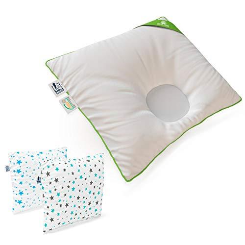 Medi Partners 5-teiliges Kuschelnest-Set mit Babynest Miki mit grauem Minky 1 kg 90 x 50 cm