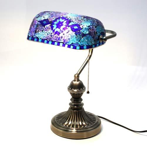 バンカーズランプ バンカーズライト モザイクガラス テーブルライト LED電球付き テーブルランプ おしゃれ アンティーク 卓上照明 ナイトランプ 読書 上質