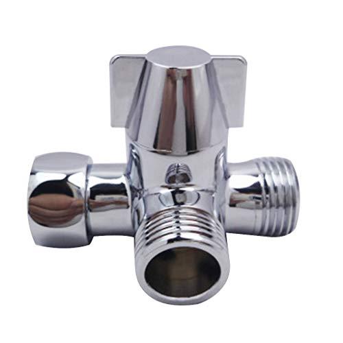 DALIN Adaptador de agua de tres vías de metal en forma de T para inodoro y bidé separador de agua