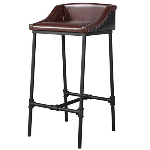 JBD Tabouret de bar en fer forgé Vintage, bar tabouret de bar petit déjeuner tabouret de bar tabouret haut chaise longue café Stool