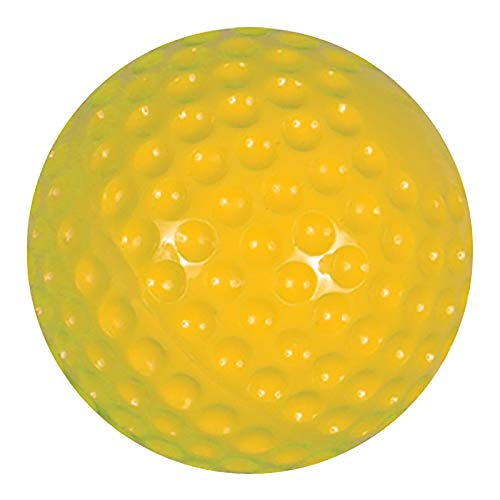 Champro Pitching Machine Dimple Molded Softball (Yellow, 12-Inch)(Pack of...