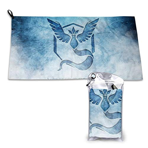 Zachary Sherman handdoeken Pokémon sneldrogend met karabijnhaak met absorberend etui en sporthanddoek, sneldrogend, 40 x 80 cm