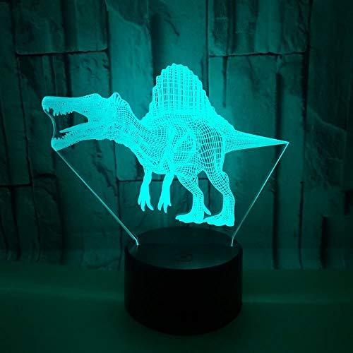 Nur 1 Stück Dinosaurier 3d Lampe Sieben Farbe Touch 3d Led Visual Usb Geschenk 3d Tischlampe Weihnachten tive Lichter