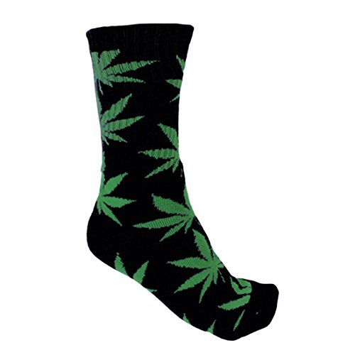 Plantlife SockenHanf Socks in universeller Größe, Unisex, Schwarz/Grün, Einheitsgröße