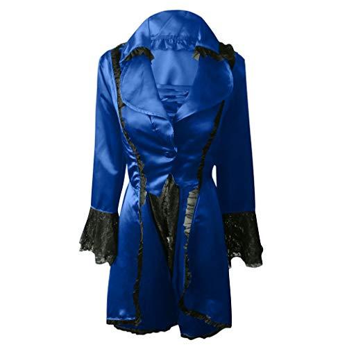 Vovotrade Steampunk Elegant Smoking-Blazer Retro onregelmatige tailcoat Victoriaans lange kostuum Cosplay kostuum Smoking Uniform Outwear