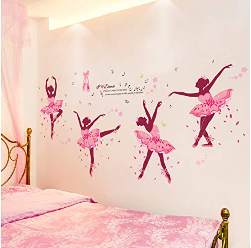 DIY Pegatinas de Pared Bailarina de ballet PVC Extraíbles Impermeable Decorativas Adhesivo Calcomanía para Dormitorio Salón Hotel Habitación Infantiles Decoración Moderno del hogar