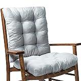 FreshWater Juego de 2 cojines para silla mecedora de ratán, respaldo y respaldo