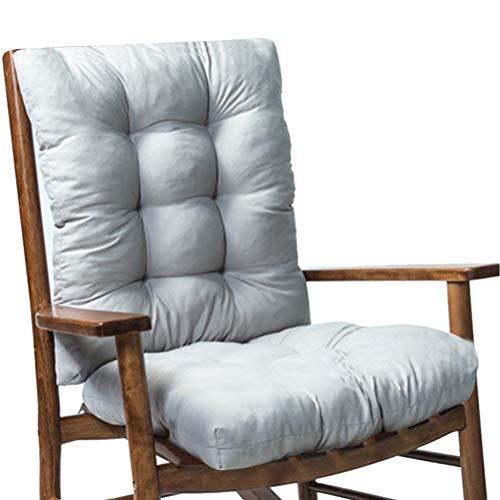 WLPTION 2 unids/set cojín de asiento suave cojín de asiento grueso cojín de ratán silla sofá cojín jardín silla respaldo e inferior