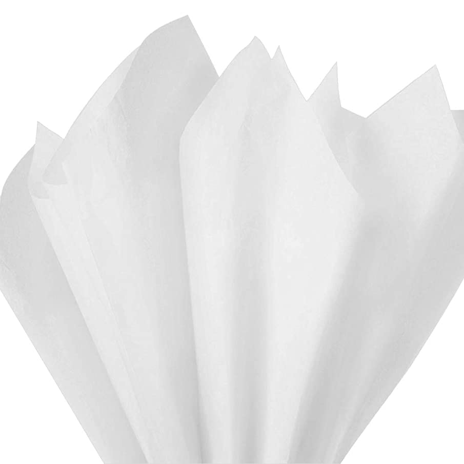Basic Solid White Bulk Tissue Paper 15 Inch x 20 Inch - 100 Sheets by COTU