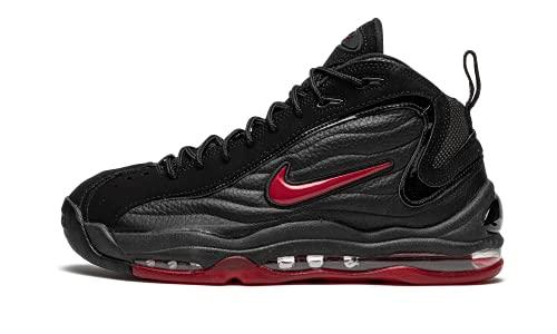 Nike Air Total Max Uptempo, Scarpe da Basket Uomo, Black/Varsity Red-Black, 42 EU