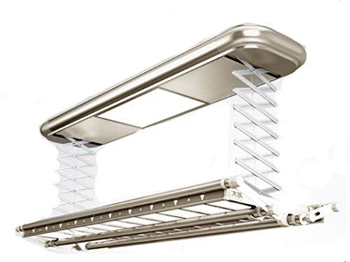 Elektrisch wasrek gemonteerd op het plafond elektrisch wasrek wasdroger met LED-licht RC multifunctionele functie naar keuze uit aluminiumlegering hanger Dota