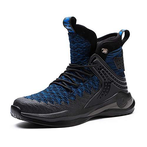 Zapatos de seguridad de los hombres botas de seguridad ligero de acero del dedo del pie de la tapa de los entrenadores de las mujeres de trabajo, color Azul, talla 42 2/3 EU
