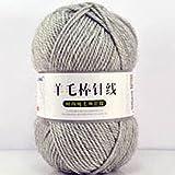 Zoomlie 4 rollos de 100 g/rollo de hilo grueso para tejer 100% lana suave surtida doble tejido a mano hilo de ganchillo para cualquier ganchillo y tejer mini proyecto DIY (4 bolas, color 18)